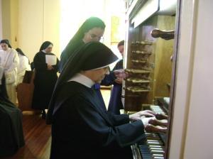 Prácticas durante el Curso-Taller de Órgano, 2010